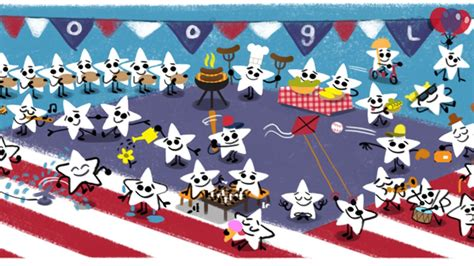 doodle 4 homepage fourth of july doodle brings s to