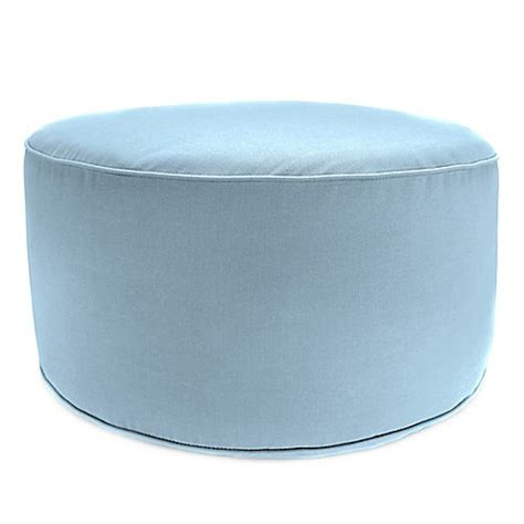 Buy Outdoor Round Pouf Ottoman In Sunbrella 174 Canvas Air Ottoman Air