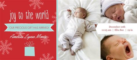 holiday birth announcements new holiday templates from