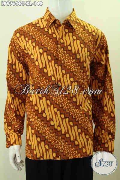 Kemeja Batik Parang Kombinasi K8088 batik hem klasik proses kombinasi tulis kemeja batik