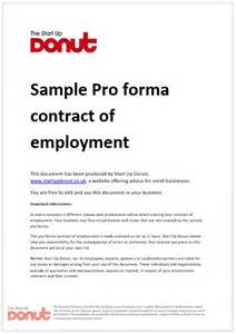 Contract Of Employment Letter Uk Free Printable Employment Contract Sle Form Generic