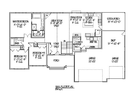 great room floor plan house plans with great room numberedtype