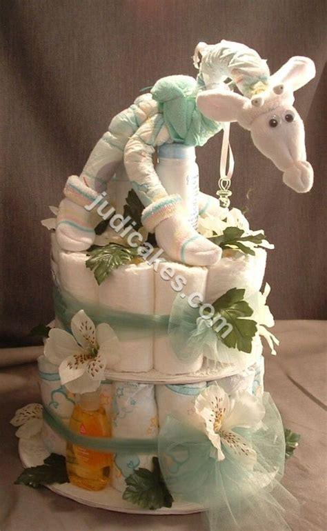giraffe baby shower theme jungle safari diaper cake gift