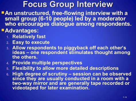 Mba Research Focus Groups by Mba2216 Business Research Week 5 Data Collection Part 1 0713