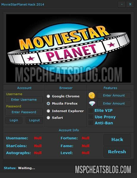 hack movie star planet accounts vip moviestarplanet starcoin cheats for 2016