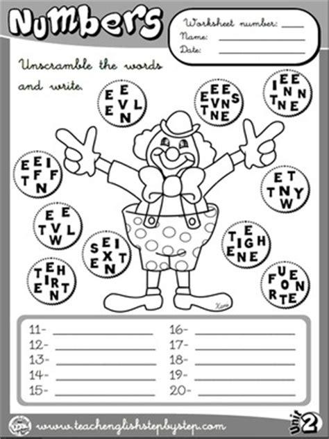 printable version languages numbers worksheet 4 b w version esl pinterest