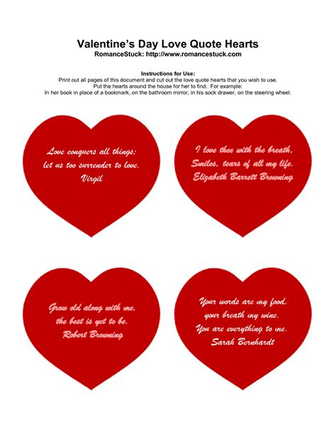 printable valentine quotes printable valentine quotes quotesgram