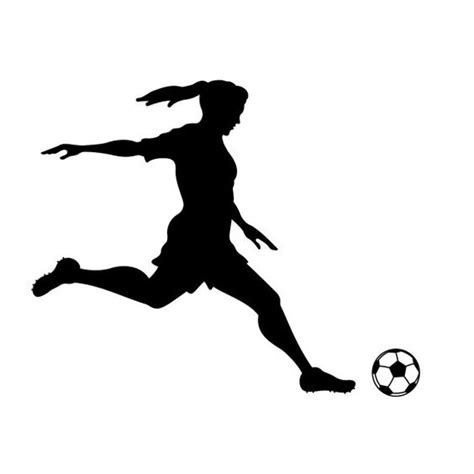 Girl Soccer Player Kicking Silhouette Sports - Wall Decal ... Girl Soccer Silhouette Clip Art