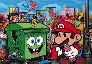 Mario Wall Mural gaming street art and graffiti we love funstock news