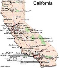south california map cities california travel guide planetware