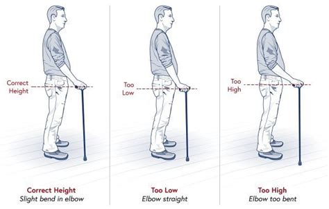 proper picture height correct walking stick height sports remedial massage