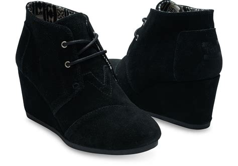 toms high heel wedges black suede s desert wedges toms