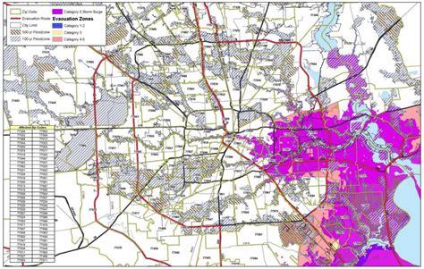 houston evacuation map satellite imagery of hurricane