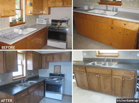 Reface Laminate Countertops by The 1950s Are Refacing With Birch Cabinets With A