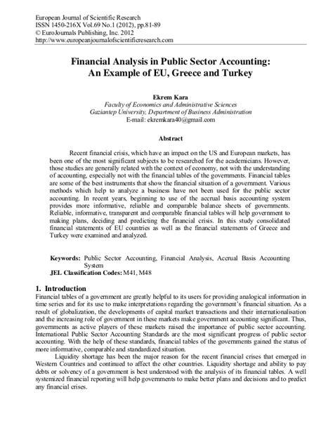 financial analysis report sle format financial analysis in sector accounting an exle