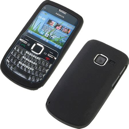 Casing Nokia C3 00 Wellcomm silicone for nokia c3 black