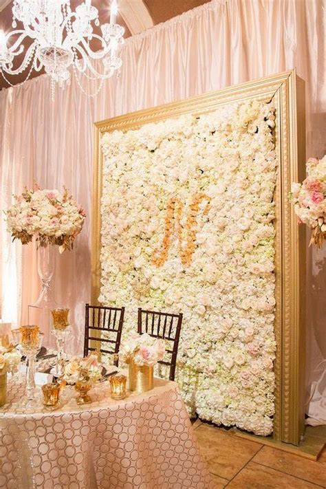 10 brilliant flower wall wedding backdrops for 2018 oh - Wedding Backdrop Flower Wall
