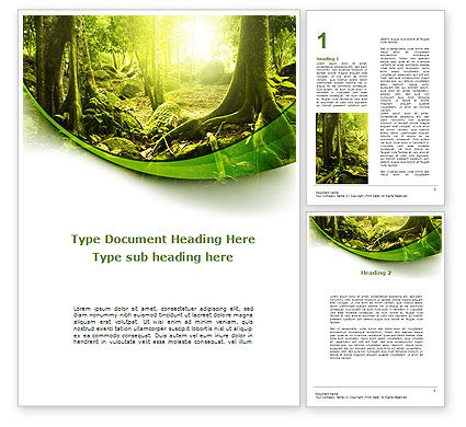 forest template jungle forest word template 09472 poweredtemplate