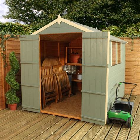 8 x 6 waltons overlap apex wooden shed dd waltons sheds