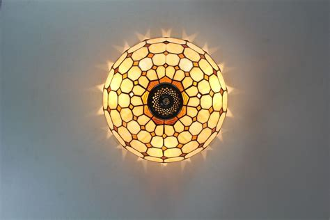 Tiffany Ceiling Lights Antique Stained Glass John Stained Glass Ceiling Lights