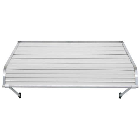 door awnings lowes shop nuimage awnings 40 in wide x 24 in projection white open slope door awning at