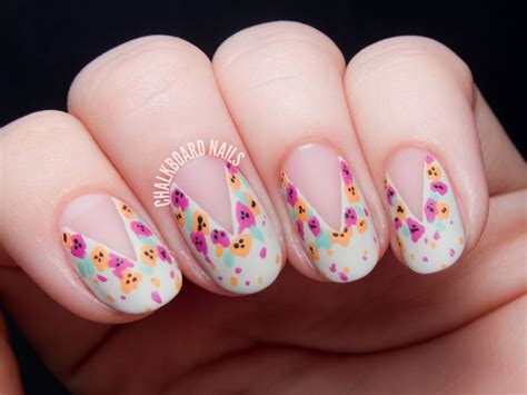 Nail By by Tutorial Easy Splattered Floral Nail Inspired By