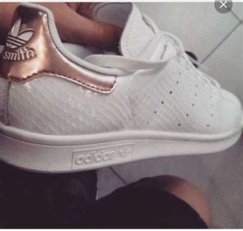 shoes white pink gold lovely sneakers adidas logo black adidas shoes adidas