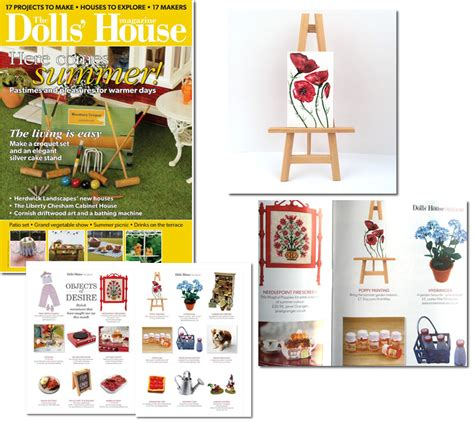 dolls house magazine uk art in wax 187 paintings