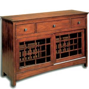 mission style dining room sideboard decor