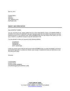 notice of check nsf template sle form biztree