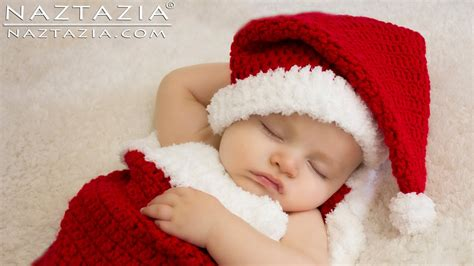 free crochet santa hat for children diy tutorial how to crochet easy baby child santa claus hat and cocoon bunting