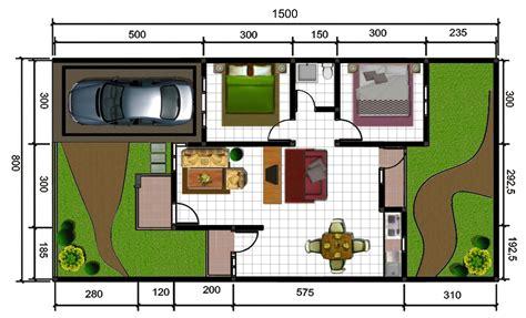 15 denah rumah minimalis type 36 satu lantai si pedia