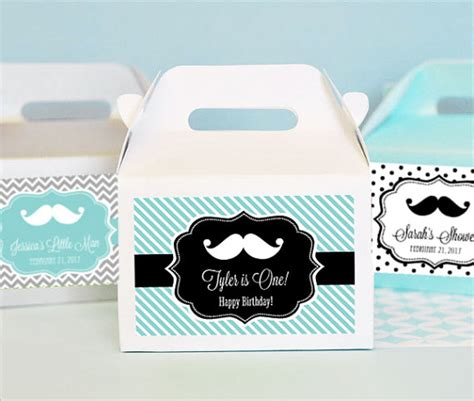 mustache baby shower supplies items similar to mustache baby shower favor box