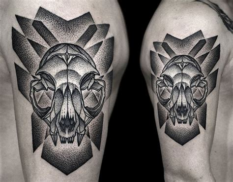 cat skeleton tattoo cat skull best design ideas