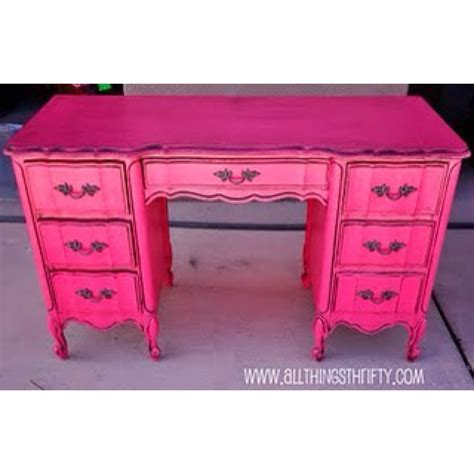 Pink Chalk Paint Wax Furniture