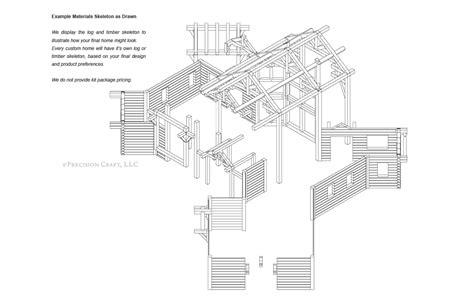 dakota hybrid timber and log home floor plan dakota hybrid timber and log home floor plan
