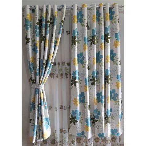 Gorden Tirai Bunga gorden minimalis blackout blazer flowers hordeng tirai