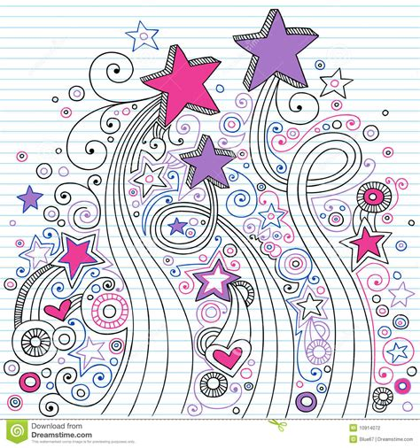 doodle on paper notebook doodles on lined paper stock photography