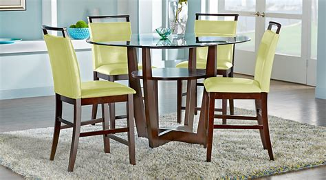counter height dining room table sets ciara espresso 5 pc counter height dining set dining
