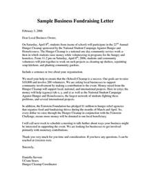 Sample Letter Of Intent For Charity Event Business Fundraising Letter Sample Fundraising Letters