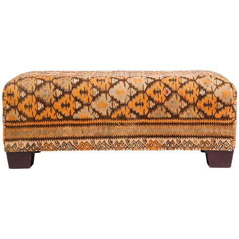 Kilim Coffee Table Ottoman Modern Kilim Ottoman Coffee Table