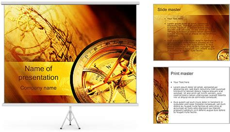 Powerpoint Design Vorlagen Geschichte Compass And Map Powerpoint Template Backgrounds Id 0000000568 Smiletemplates