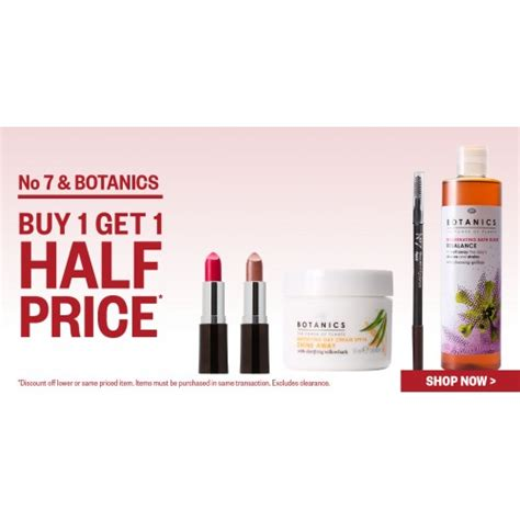 No 7 Botanics Buy 1 Get 1 Half Price No 7 Botanics Postie Bargain
