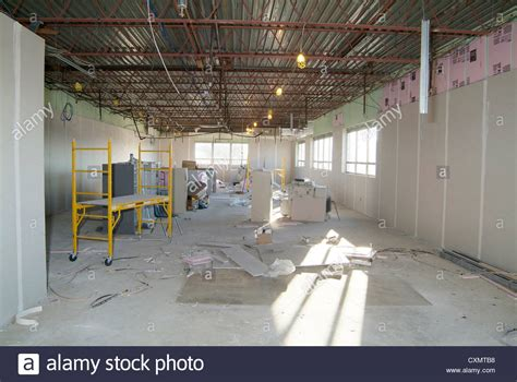 commercial industrial building interior construction