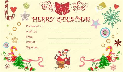 templates gift certificates christmas 20 awesome christmas gift certificate templates to end 2017