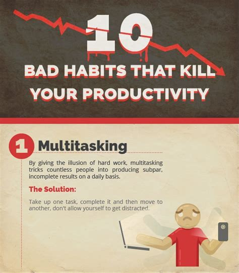 infographic 10 bad habits that are killing your