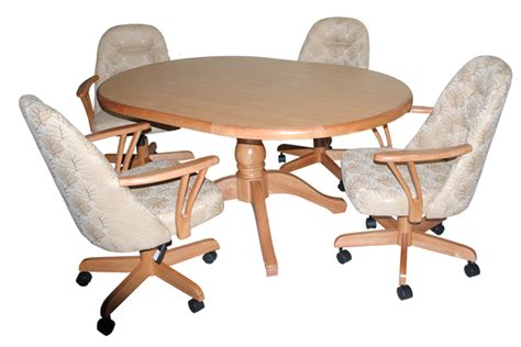 Chairs On Casters For Dining Table Dining Table Dining Table Caster Chairs