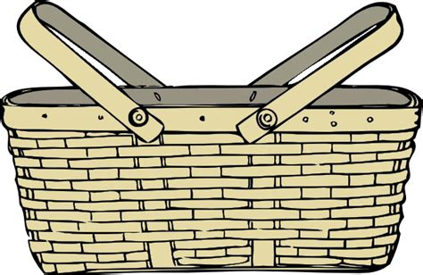 clipart basket picnic basket free images at clker vector clip