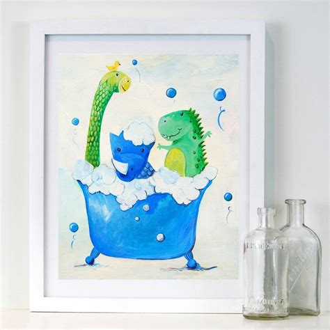 dinosaur bathroom decor rub a dub dub kids bathroom art prints cici art factory