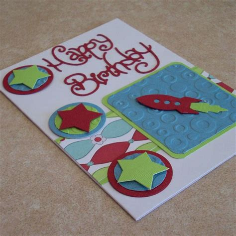 Handmade Greeting Cards For Boys - happy birthday handmade greeting card rocket boys